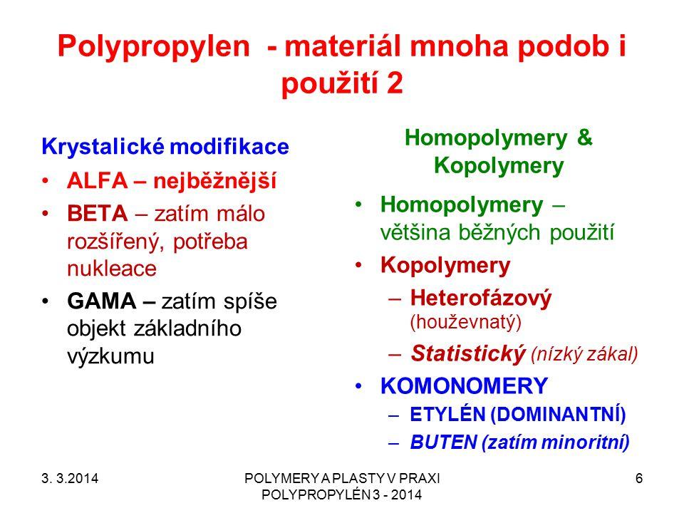 Polypropylen - materiál mnoha podob i použití 2