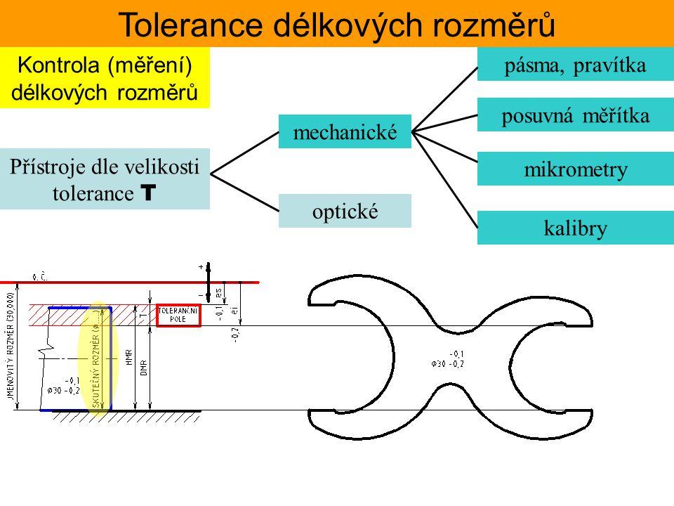 Tolerance délkových rozměrů