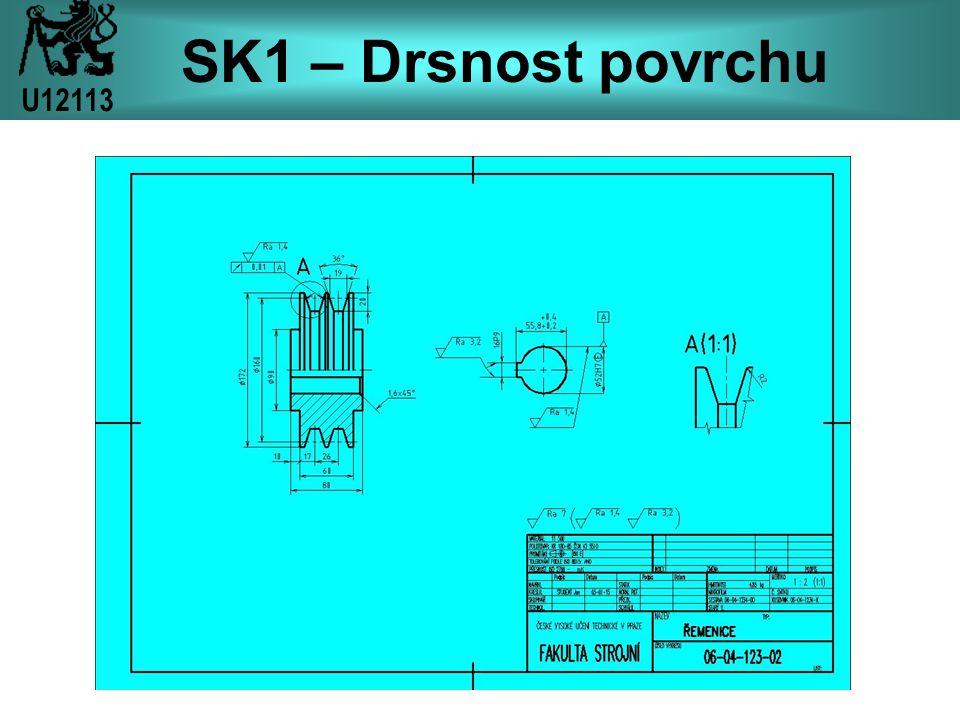 SK1 – Drsnost povrchu U12113