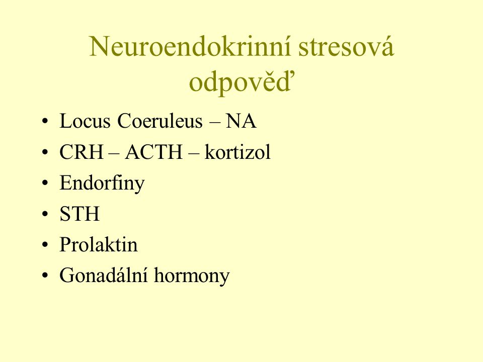 Neuroendokrinní stresová odpověď