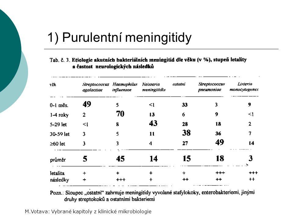 1) Purulentní meningitidy