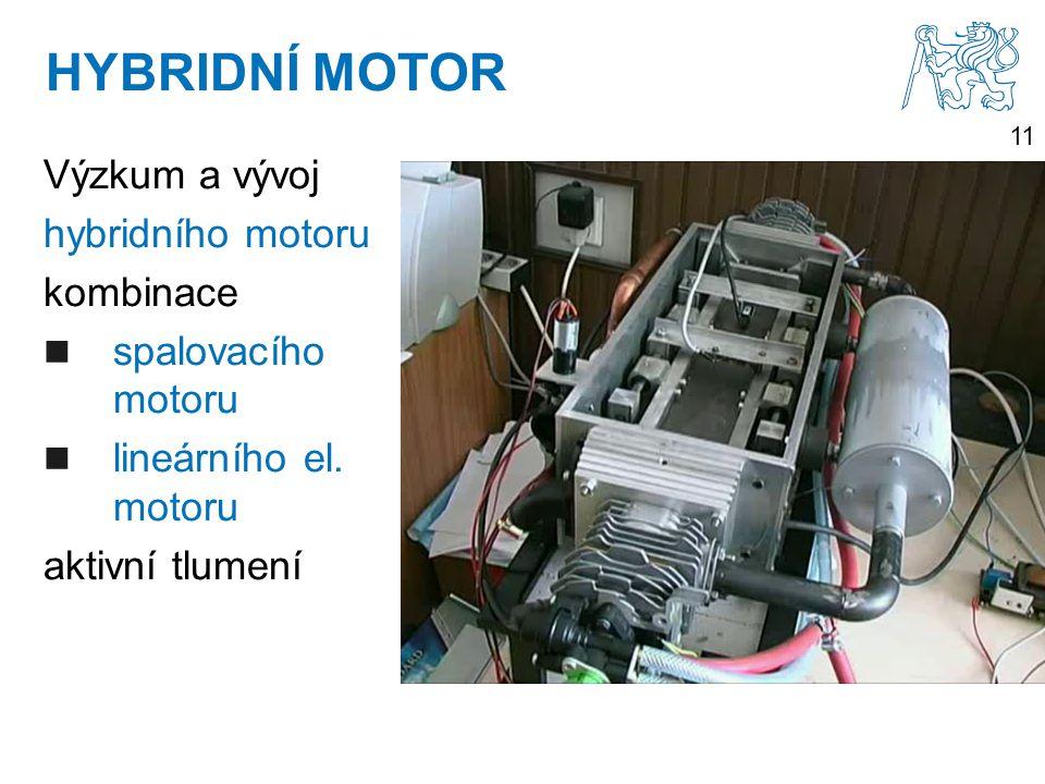 HYBRIDNÍ MOTOR Výzkum a vývoj hybridního motoru kombinace