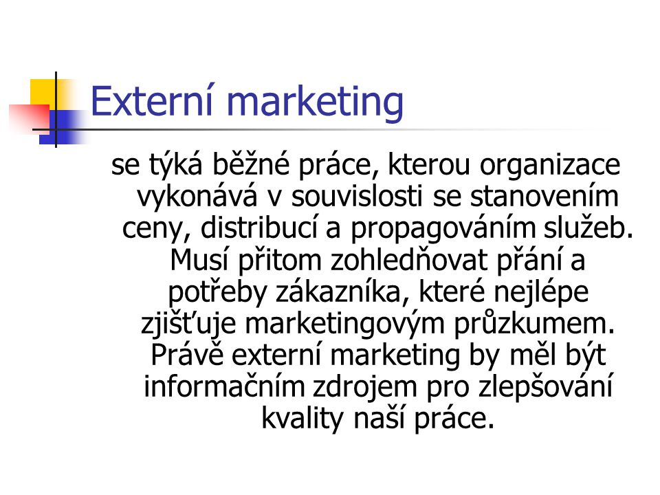 Externí marketing