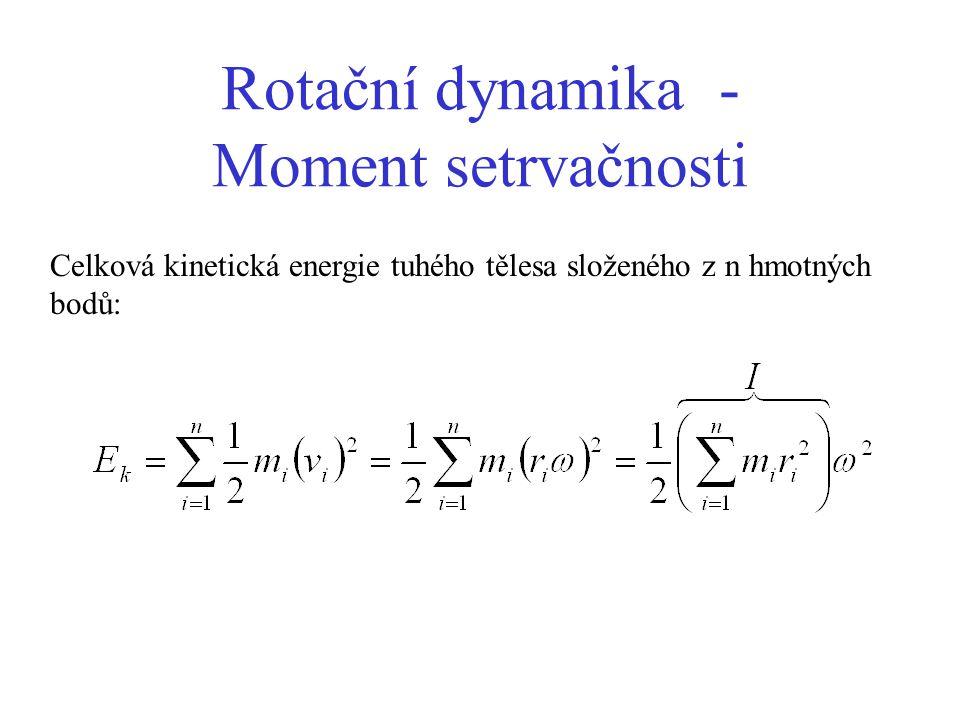 Rotační dynamika - Moment setrvačnosti