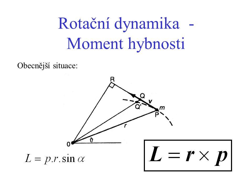 Rotační dynamika - Moment hybnosti