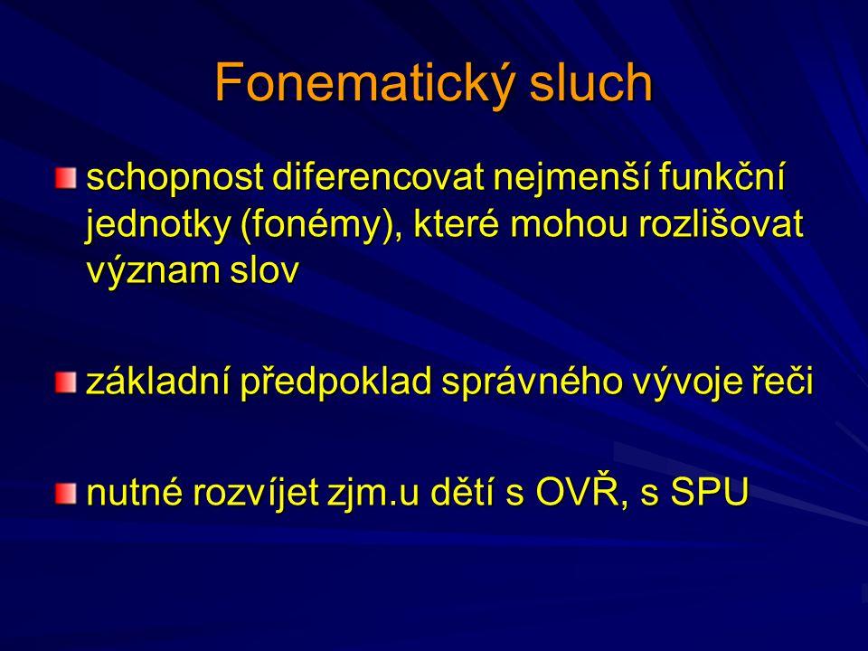 Fonematický sluch schopnost diferencovat nejmenší funkční jednotky (fonémy), které mohou rozlišovat význam slov.
