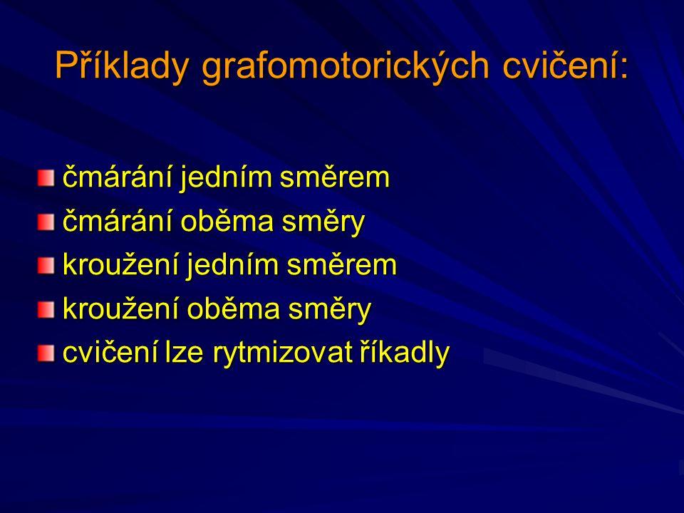 Příklady grafomotorických cvičení: