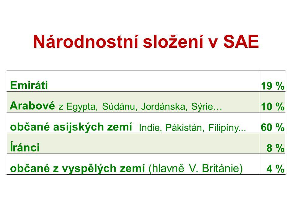 Národnostní složení v SAE