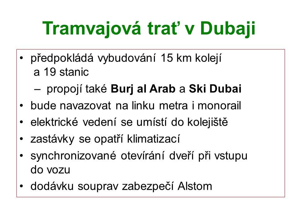 Tramvajová trať v Dubaji