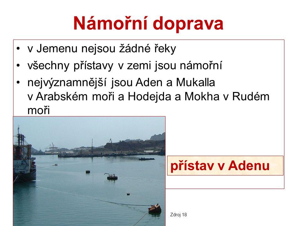 Námořní doprava přístav v Adenu v Jemenu nejsou žádné řeky