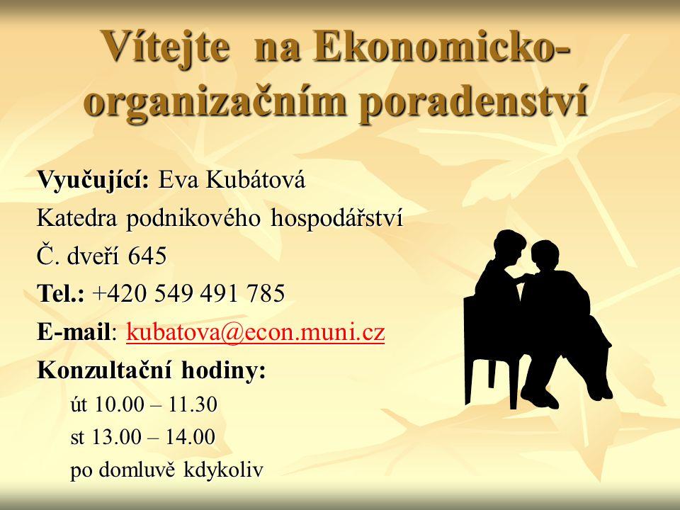 Vítejte na Ekonomicko-organizačním poradenství