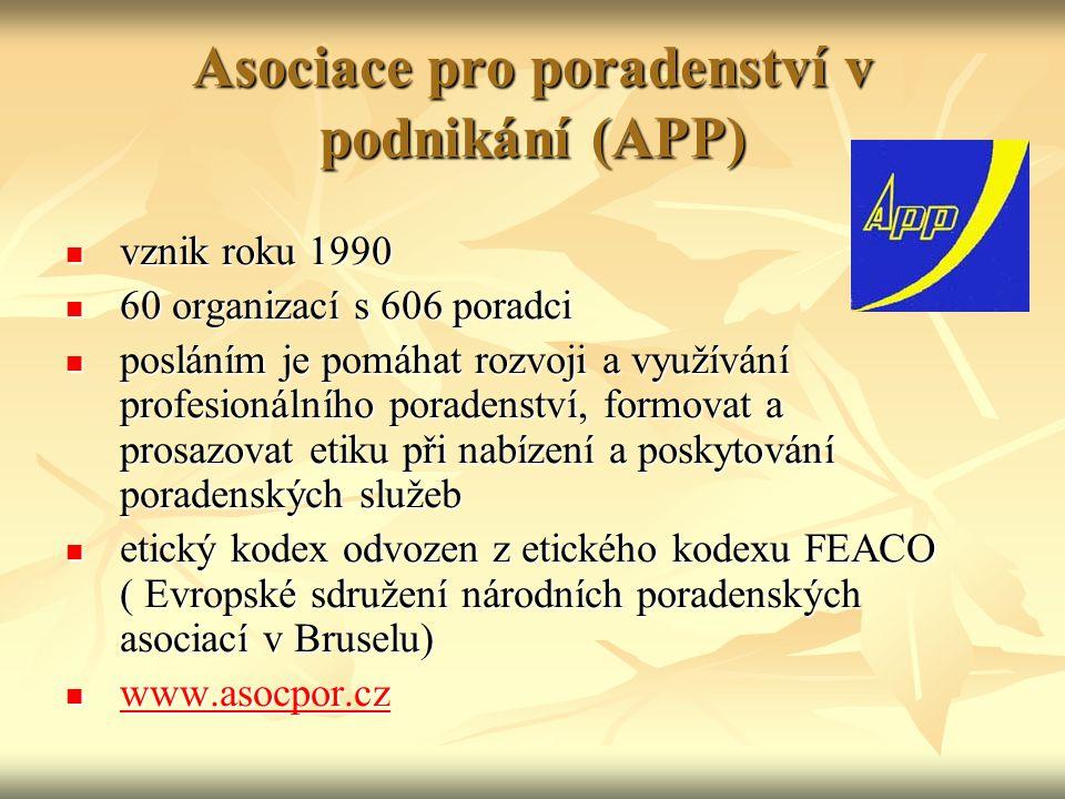 Asociace pro poradenství v podnikání (APP)