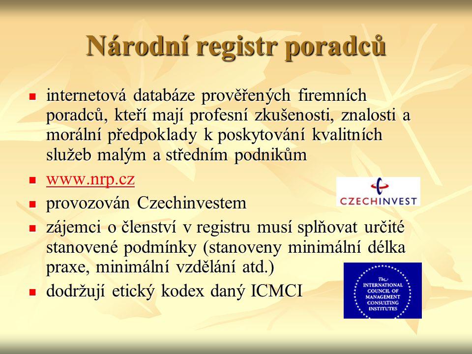 Národní registr poradců