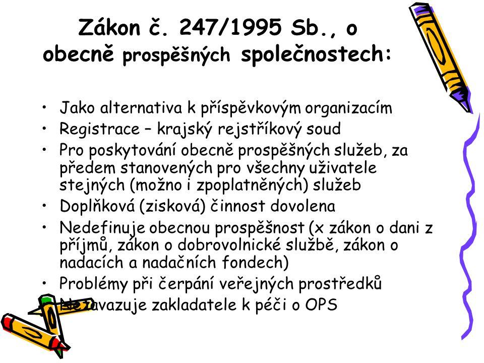 Zákon č. 247/1995 Sb., o obecně prospěšných společnostech: