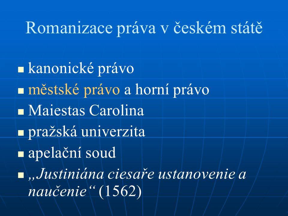Romanizace práva v českém státě