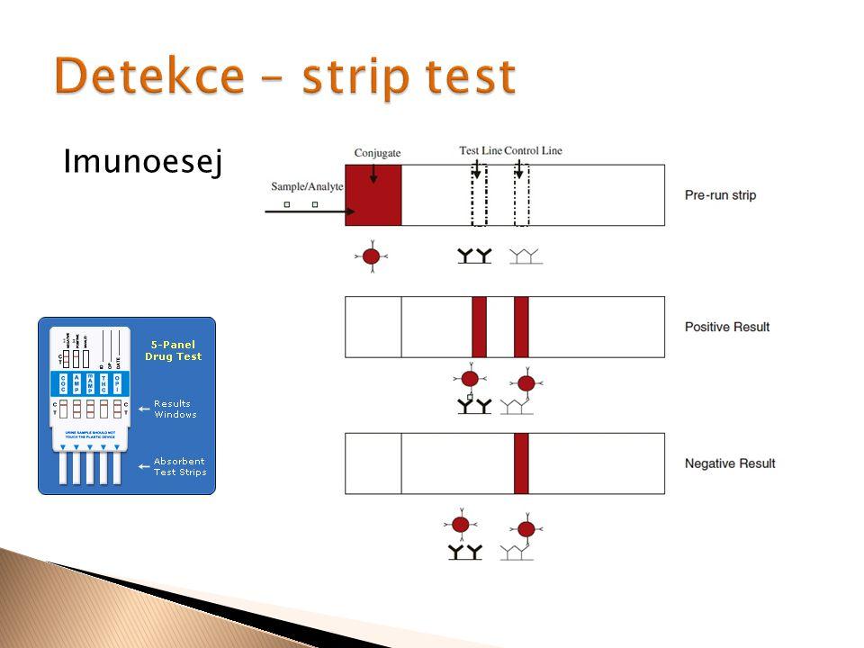 Detekce – strip test Imunoesej