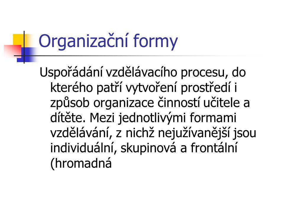 Organizační formy