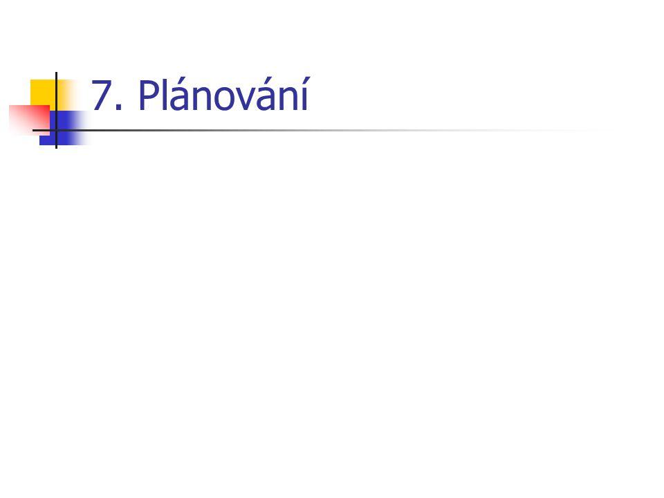 7. Plánování
