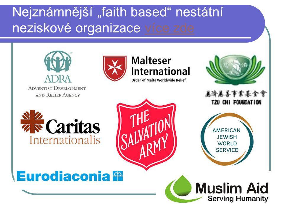 """Nejznámnější """"faith based nestátní neziskové organizace více zde"""