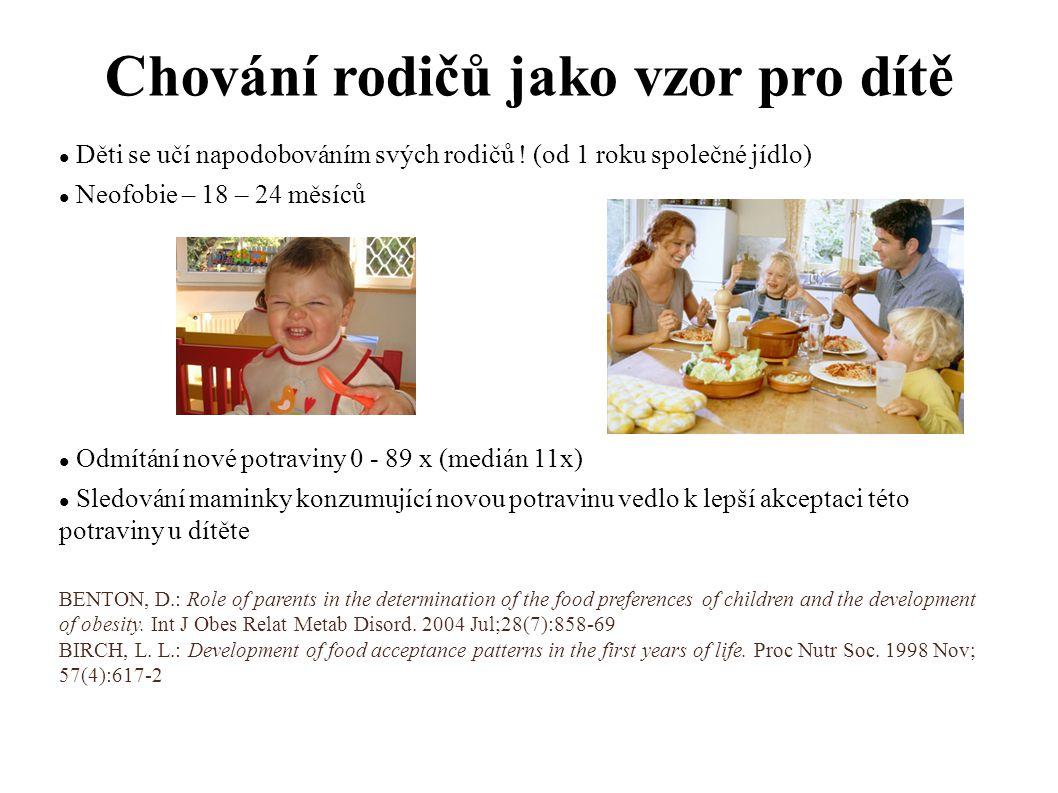 Chování rodičů jako vzor pro dítě