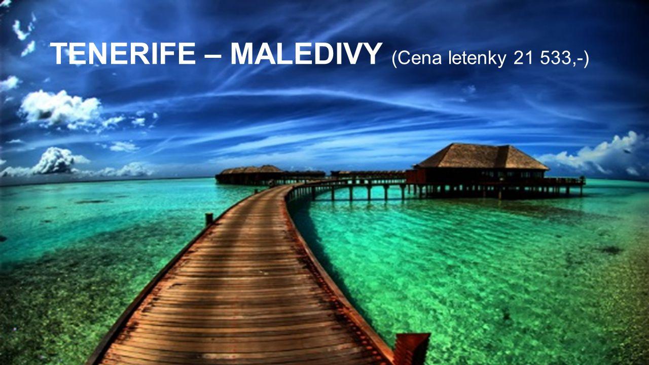 TENERIFE – MALEDIVY (Cena letenky 21 533,-)