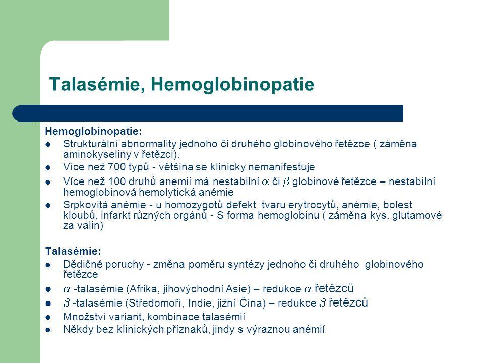 Talasémie, Hemoglobinopatie