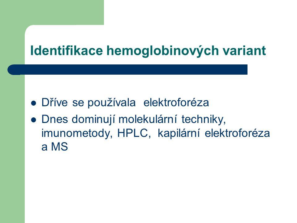 Identifikace hemoglobinových variant