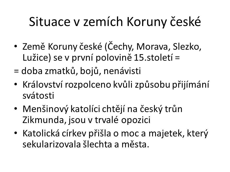 Situace v zemích Koruny české