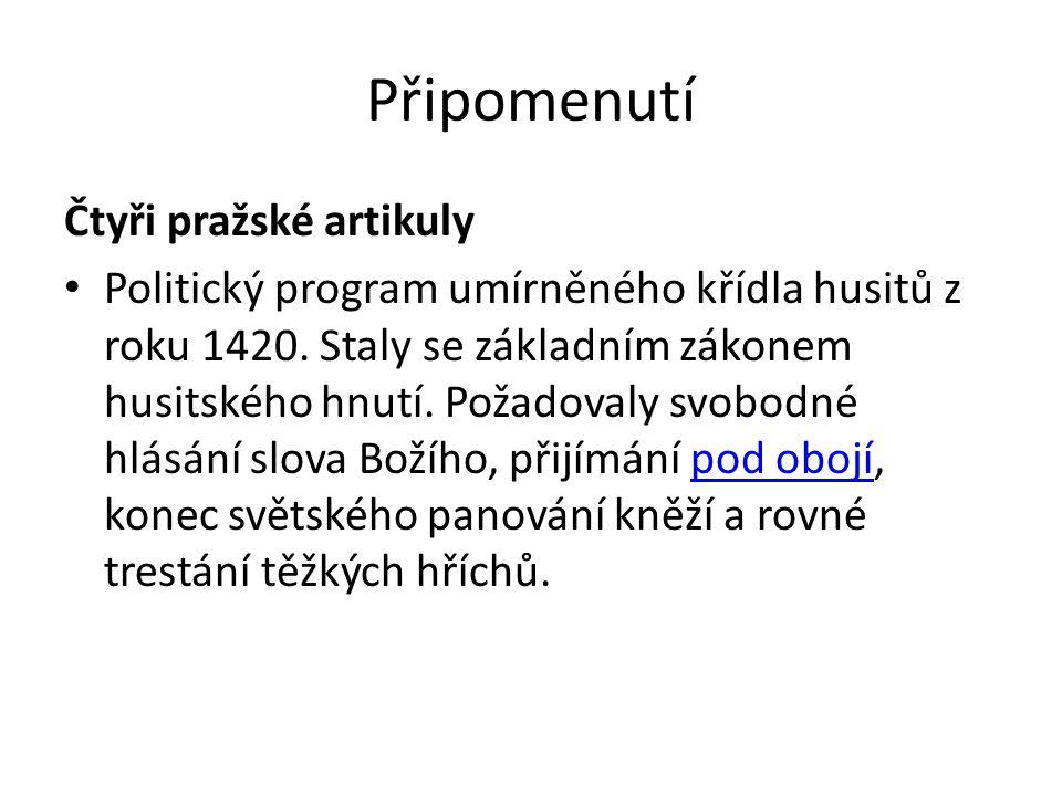 Připomenutí Čtyři pražské artikuly