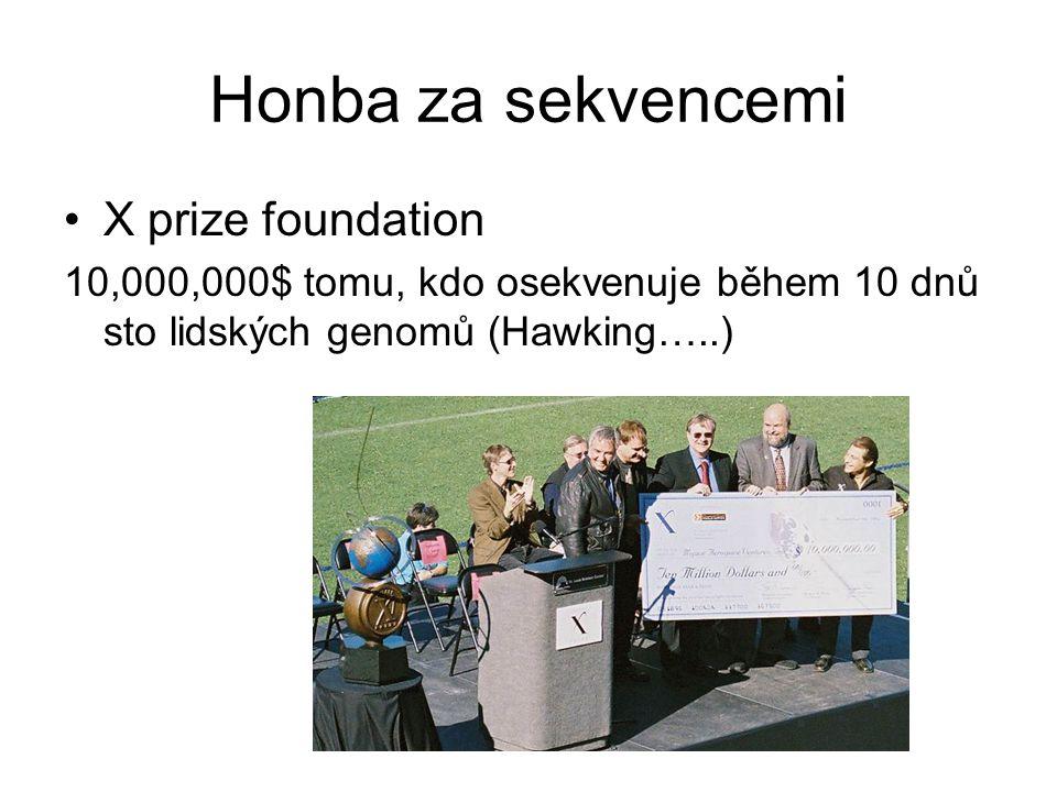 Honba za sekvencemi X prize foundation