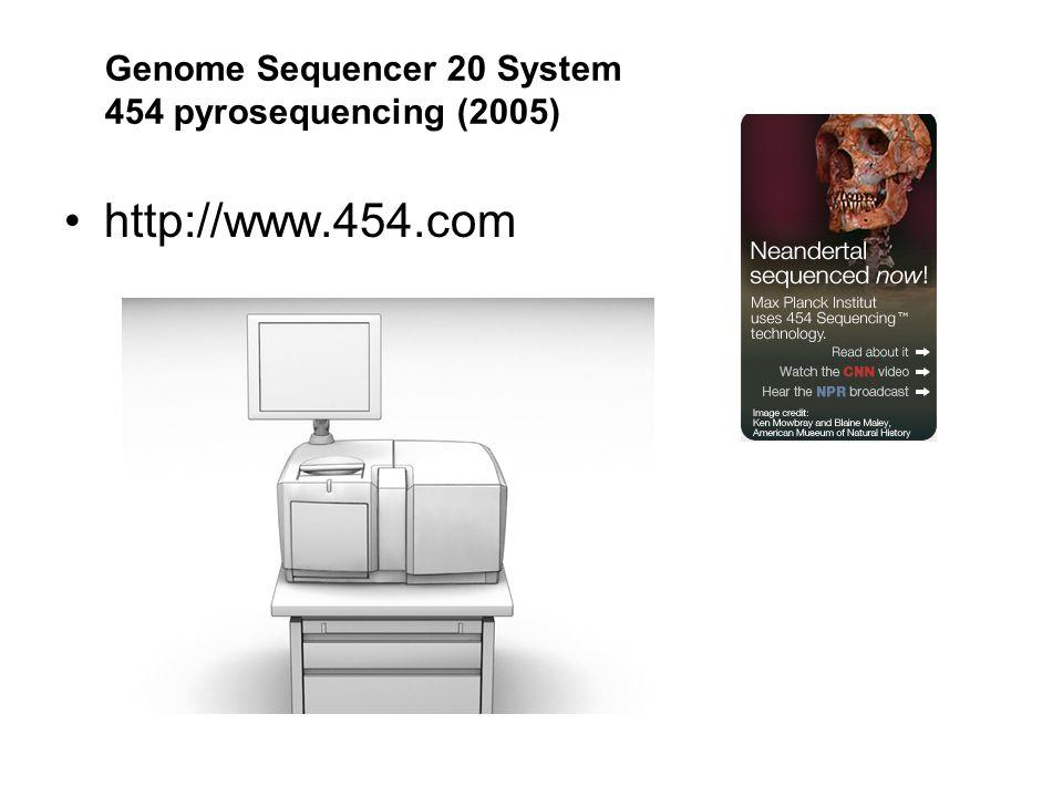 http://www.454.com Genome Sequencer 20 System