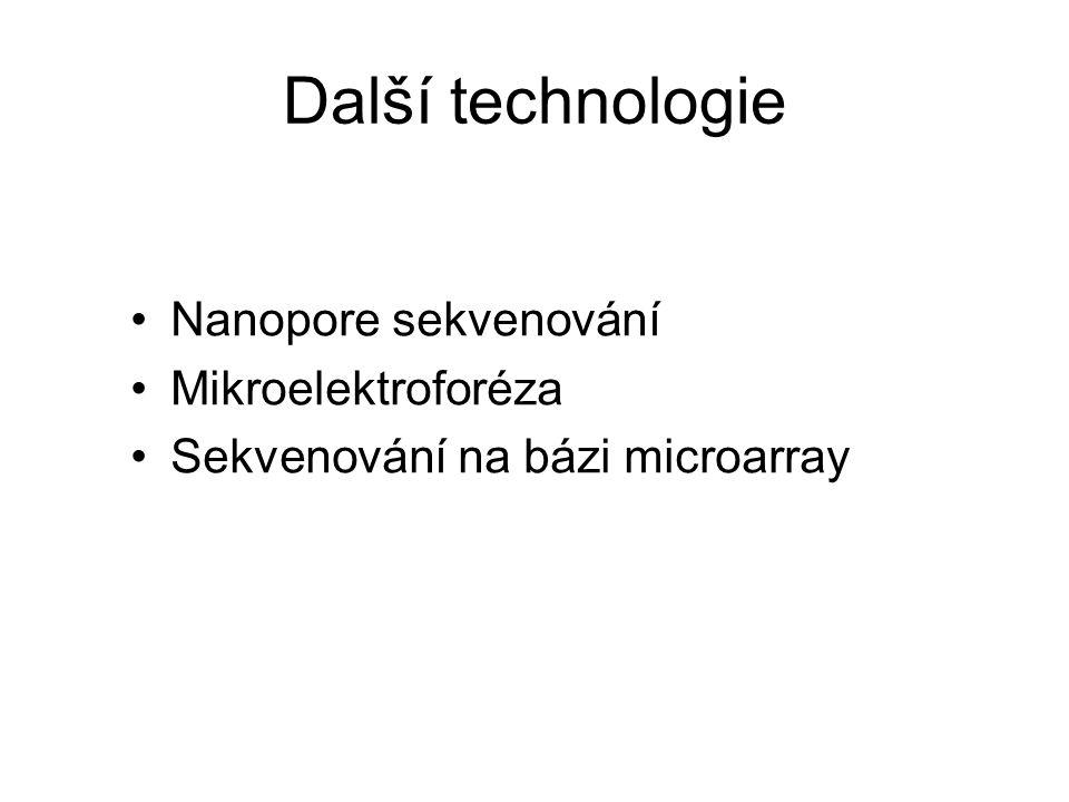 Další technologie Nanopore sekvenování Mikroelektroforéza