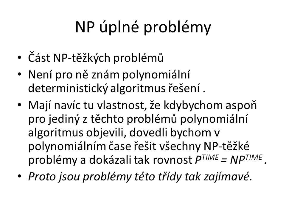 NP úplné problémy Část NP-těžkých problémů