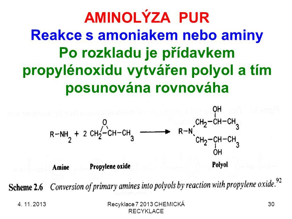 Reakce s amoniakem nebo aminy