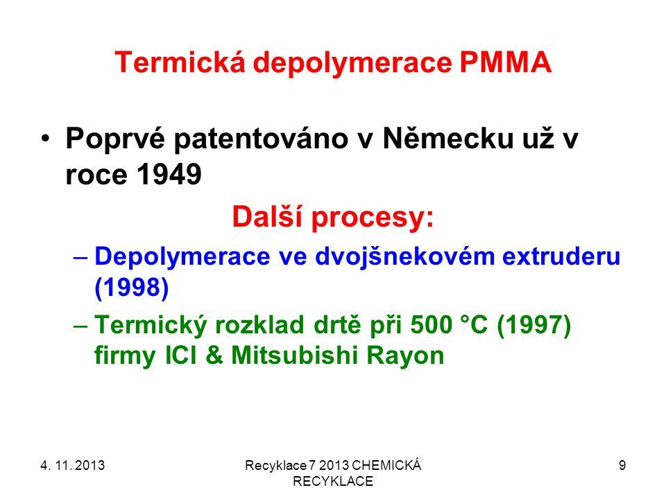 Termická depolymerace PMMA