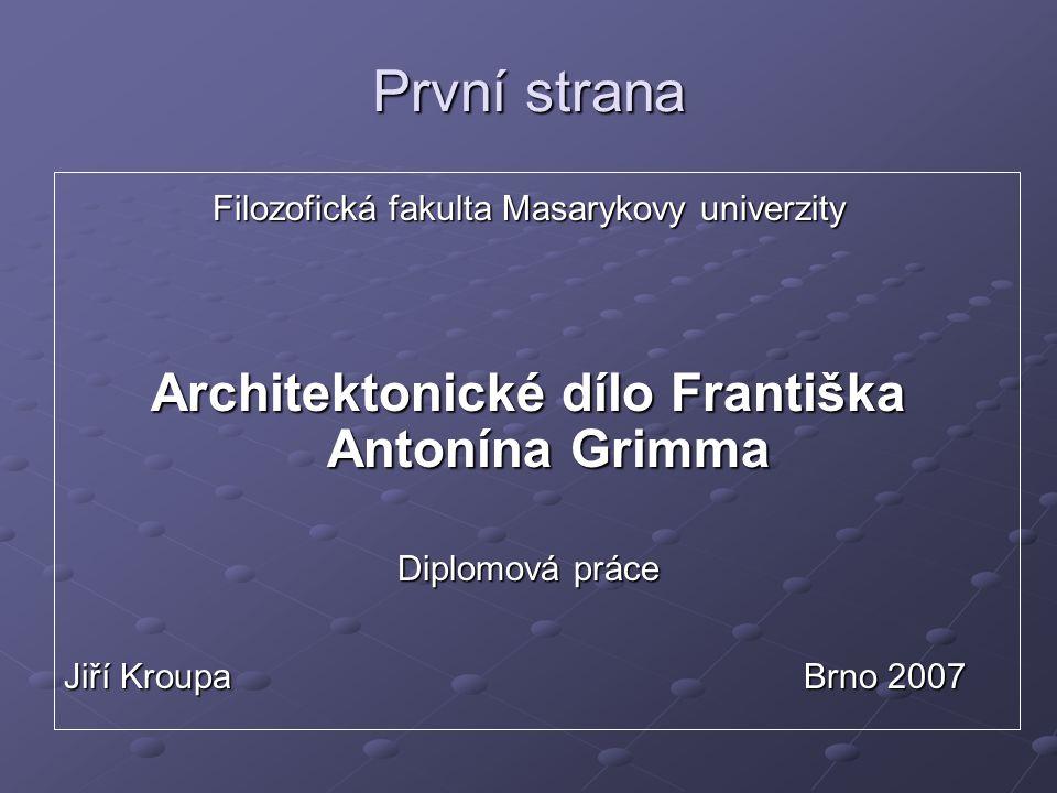 Architektonické dílo Františka Antonína Grimma