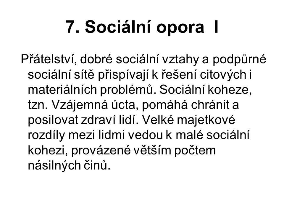 7. Sociální opora I