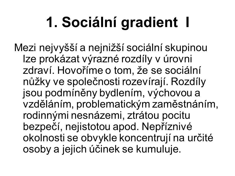 1. Sociální gradient I
