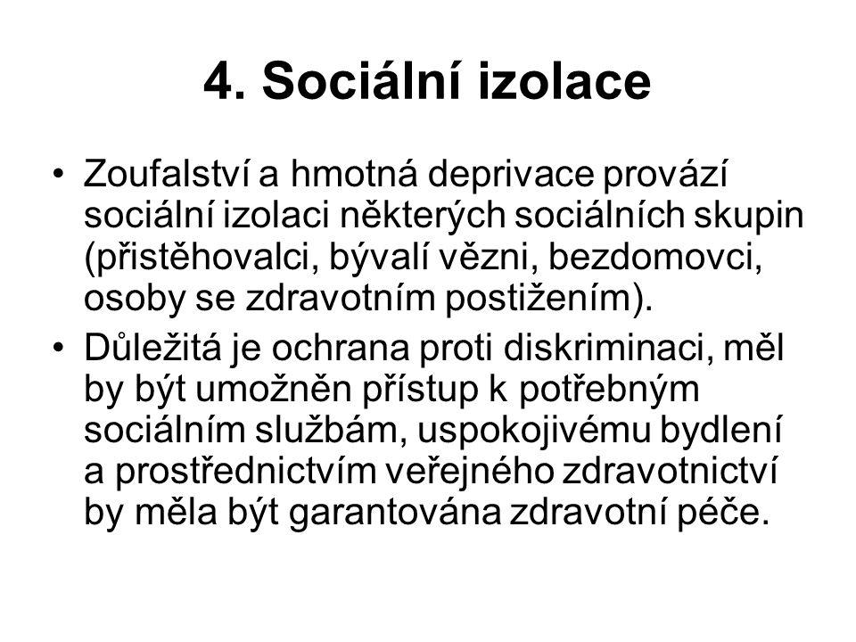 4. Sociální izolace