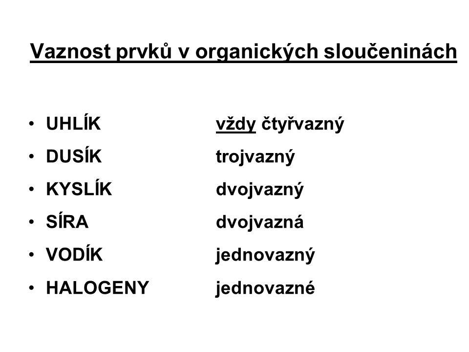 Vaznost prvků v organických sloučeninách