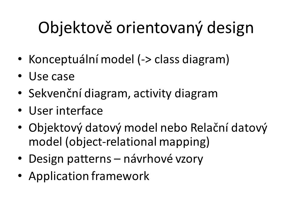 Objektově orientovaný design