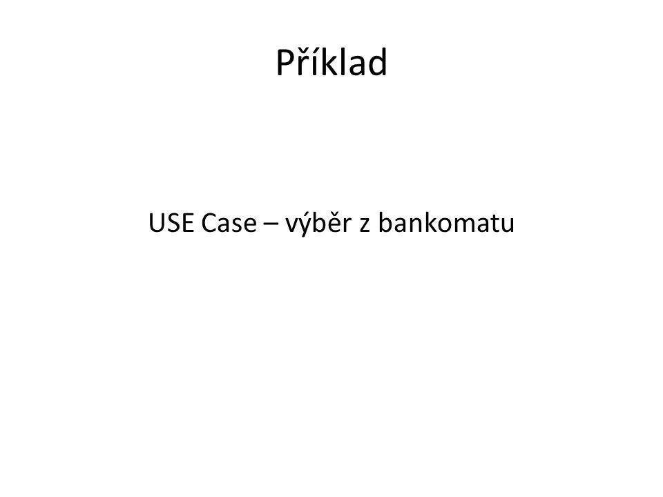 USE Case – výběr z bankomatu