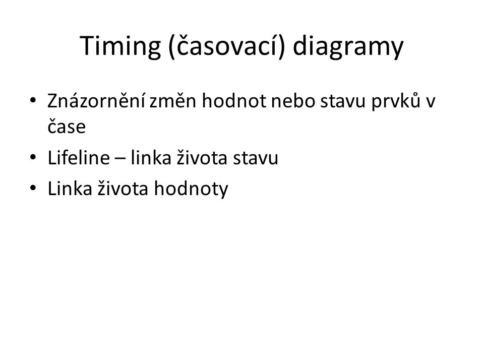 Timing (časovací) diagramy