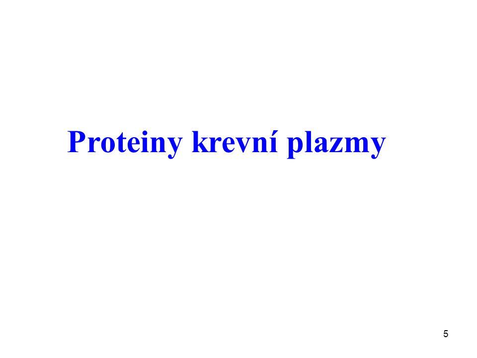 Proteiny krevní plazmy