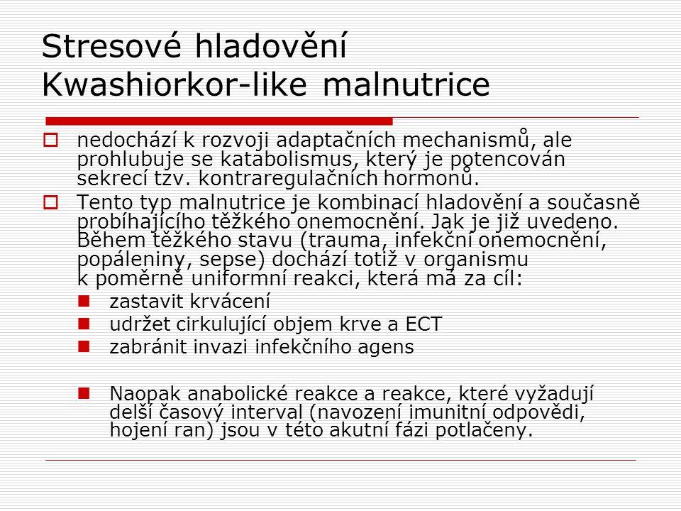 Stresové hladovění Kwashiorkor-like malnutrice