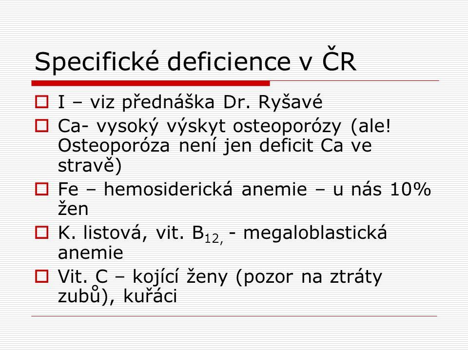 Specifické deficience v ČR