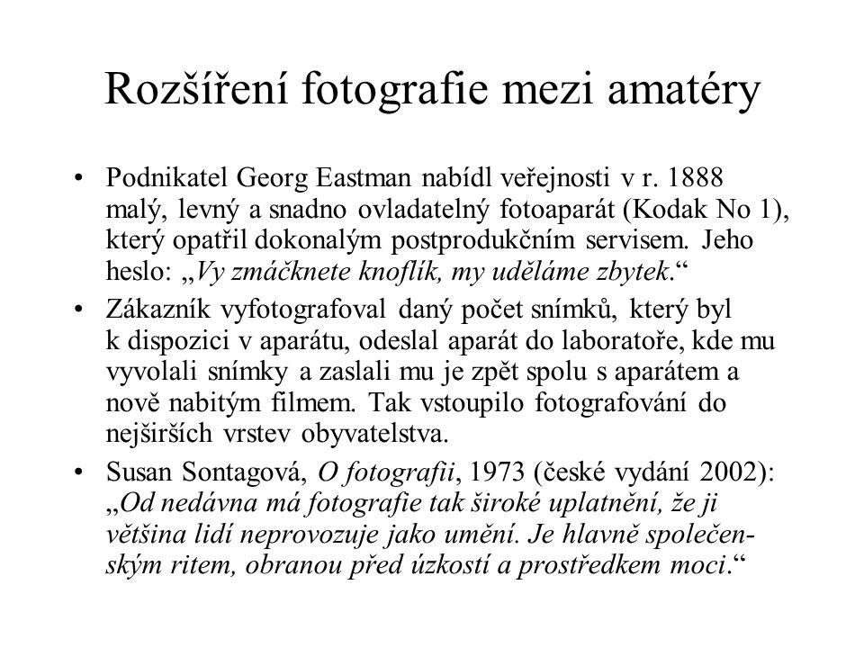 Rozšíření fotografie mezi amatéry