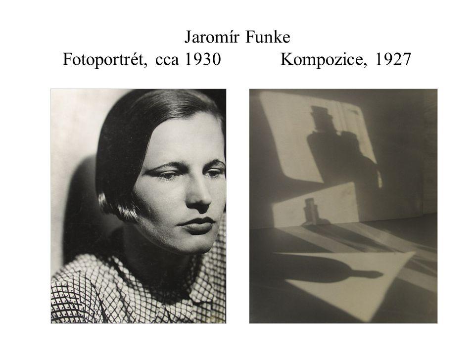 Jaromír Funke Fotoportrét, cca 1930 Kompozice, 1927
