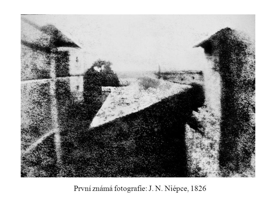 První známá fotografie: J. N. Niépce, 1826