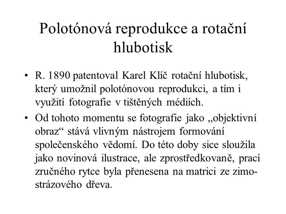 Polotónová reprodukce a rotační hlubotisk